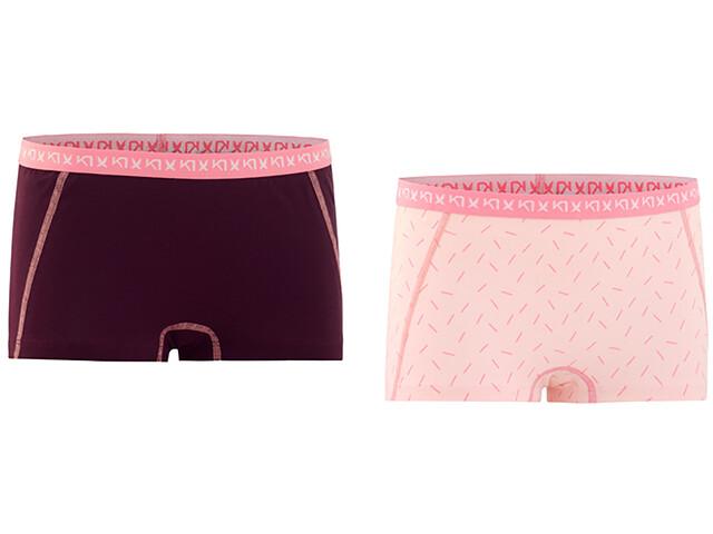 Kari Traa Bennvakker Ondergoed onderlijf Dames 2 Pieces roze/rood